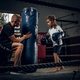 Little cute girl got her's first boxing training - PhotoDune Item for Sale