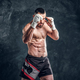 Portrait of muscular fighter with nacked torso - PhotoDune Item for Sale