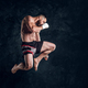 Portrait of focused fighter in jumping position - PhotoDune Item for Sale