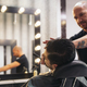 Bearded Man Getting Beard Haircut With A Razor By Barber - PhotoDune Item for Sale