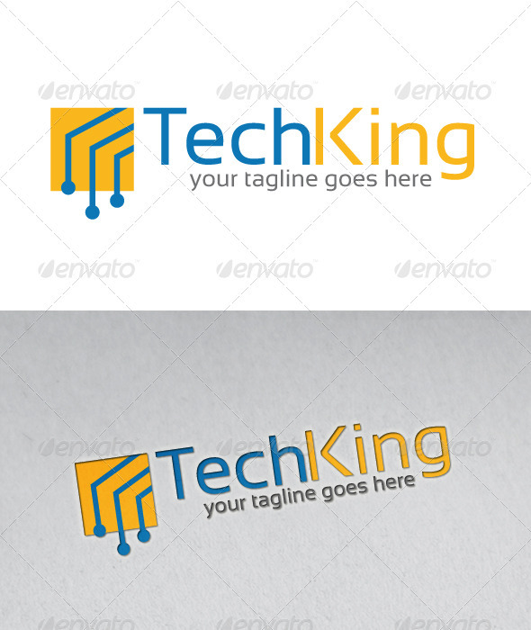 Tech King Logo Template - Abstract Logo Templates