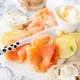 Smoked salmon with fresh lemon - PhotoDune Item for Sale