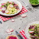 fresh radish salad with greens and avocado - PhotoDune Item for Sale