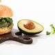 delicious green vegan burger with microgreens, avocado, black pepper - PhotoDune Item for Sale