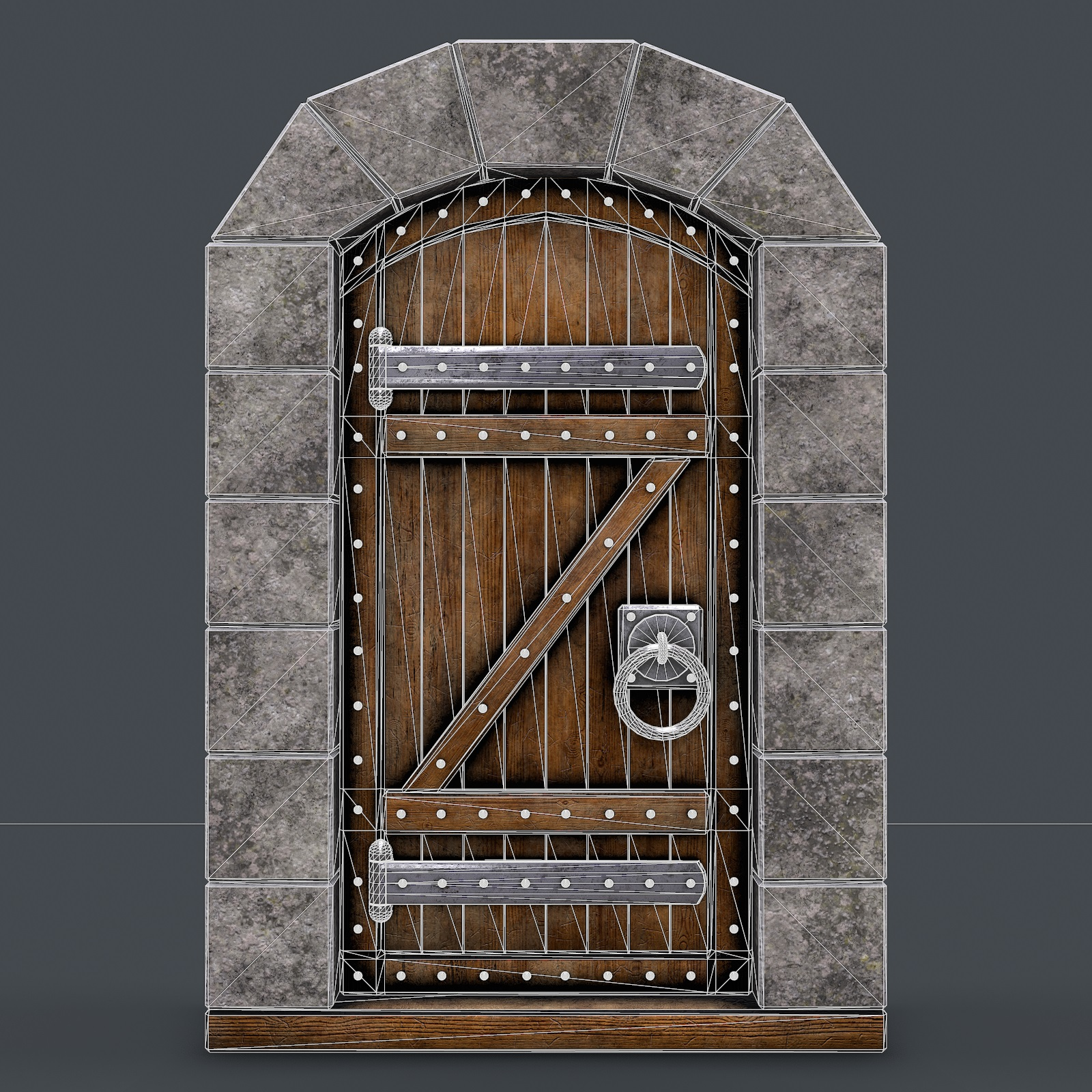 Ancient Wooden Door Animated 3d Model By Nicu Tepes 3docean