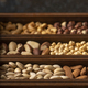 Mix of Nuts in a wooden box - PhotoDune Item for Sale