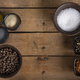 Bowls of Spices on a wooden table - PhotoDune Item for Sale