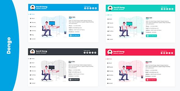Dongo - vCard / Resume / CV Template