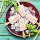 Rhubarb vegetarian ice cream - PhotoDune Item for Sale