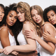 Image of beautiful multinational women posing and hugging together - PhotoDune Item for Sale