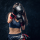 Portrait of pretty professional female boxer - PhotoDune Item for Sale