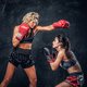 Fight between two professional female boxers - PhotoDune Item for Sale