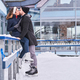 Young couple in love kiss on ice rink - PhotoDune Item for Sale