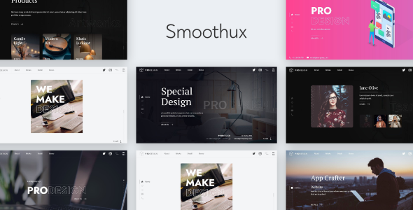 Smoothux - Creative Portfolio Website Template