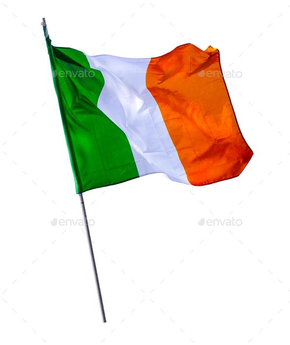 Isolated Irish Flagpole - Stock Photo - Images
