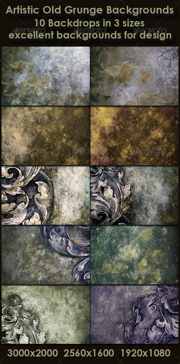 Artistic Old Grunge Backgrounds - Miscellaneous Backgrounds