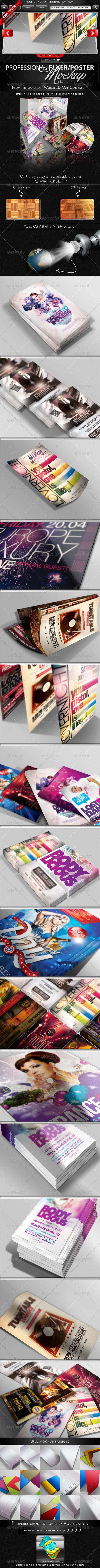 Flyer & Poster Mockup Bundle 1-3 - Flyers Print