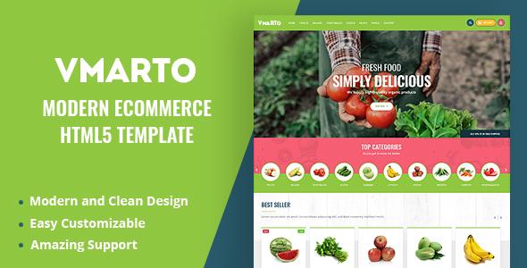 Wonderful Vmarto - Responsive Ecommerce HTML5 Template