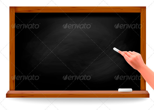 Hand writing on a blackboard. Vector - Objects Vectors