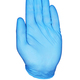 Hand high five or stop sign in blue protective glove isolated. - PhotoDune Item for Sale