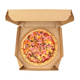 Pizza in take-out box isolated - PhotoDune Item for Sale