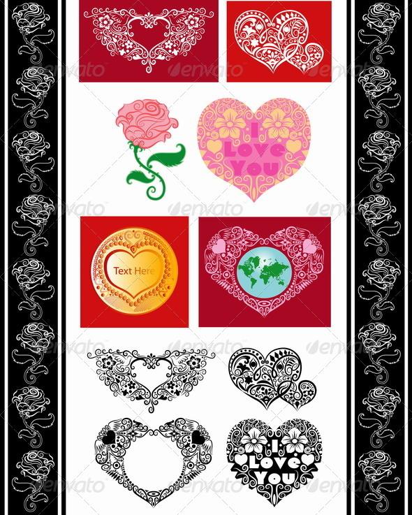 Love ornaments - Valentines Seasons/Holidays