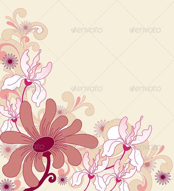 Background with Flowers - Flowers & Plants Nature