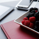 Raspberry and blackberries, healthy lunch in the office - PhotoDune Item for Sale