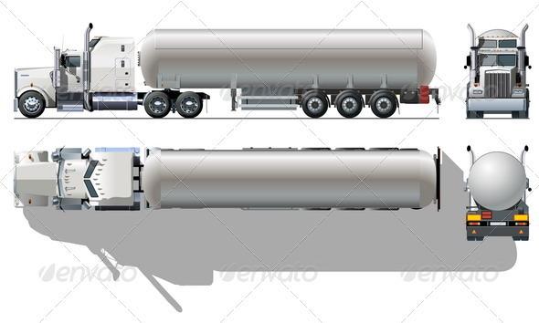 Tanker Semi-truck - Man-made Objects Objects