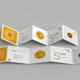 5-Fold Square Brochure Mockups