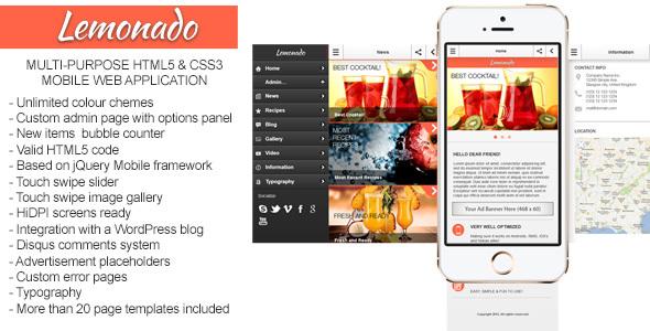Lemonado - Multi-purpose Mobile Web Application