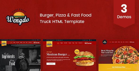Download Wengdo - Fast Food HTML Template }}