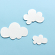 white clouds on blue sky background - PhotoDune Item for Sale