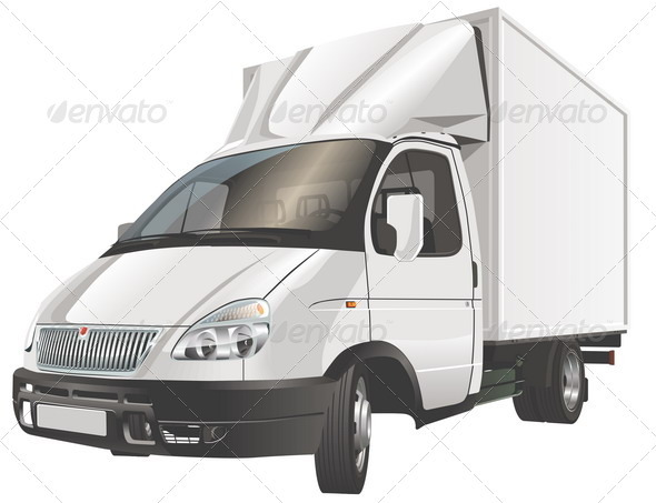 Delivery / Cargo Truck - Man-made Objects Objects