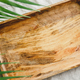 Wooden tray is made from mango tree on a linen cloth - PhotoDune Item for Sale