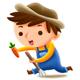 Farmer Profession — Kids Illustration