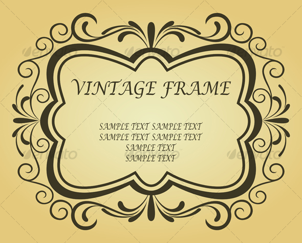 Vintage frame - Decorative Vectors