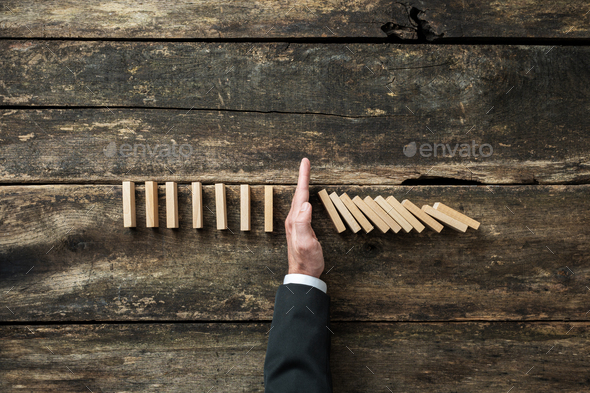Conceptual image of stock market and business crisis