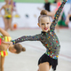 Beautiful little active gymnast girl with her performance on the carpet - PhotoDune Item for Sale