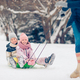 Family of dad and kids vacation on Christmas eve outdoors - PhotoDune Item for Sale