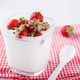 Homemade yoghurt with fresh strawberries - PhotoDune Item for Sale