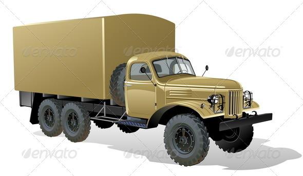 6x6 Heavy Cargo Truck - Man-made Objects Objects