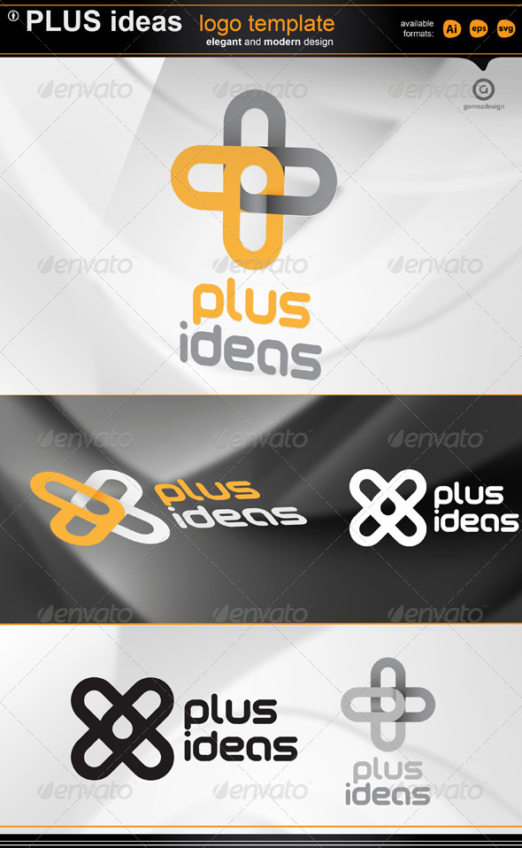 Plus Ideas logo - Symbols Logo Templates
