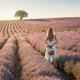Woman in a lavender field - PhotoDune Item for Sale