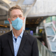 Mature businessman thinking with mask for protection from corona virus outbreak at the footbridge - PhotoDune Item for Sale