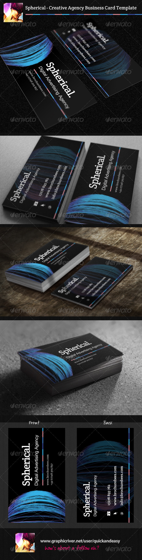 Spherical Business Card Template - Creative Business Cards