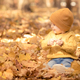 Happy child having fun outdoor in autumn park - PhotoDune Item for Sale