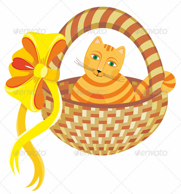 Cat in Basket - Animals Characters