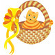 Cat in Basket - GraphicRiver Item for Sale