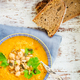 Vegetarian Soup from carrots, tomatoes, brocolli and chickpeas - PhotoDune Item for Sale